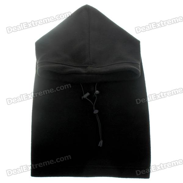 Stylish Winter Fleece Balaclava Scarf Hat Headgear - Black