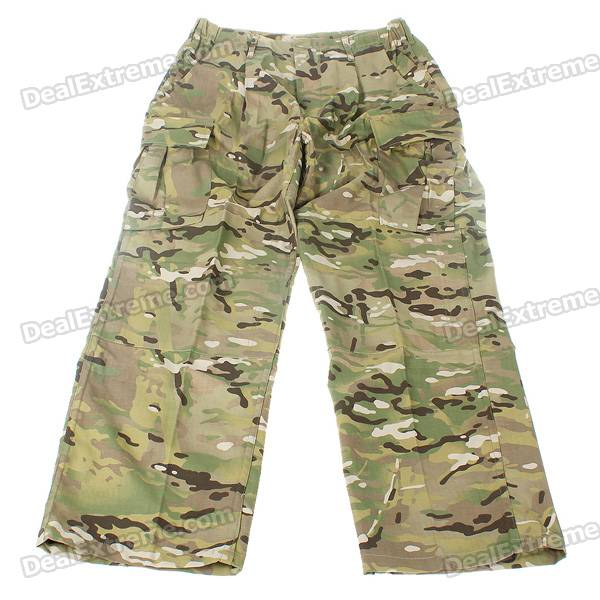 Durable Dabbling Camouflage Trousers (Size-L)