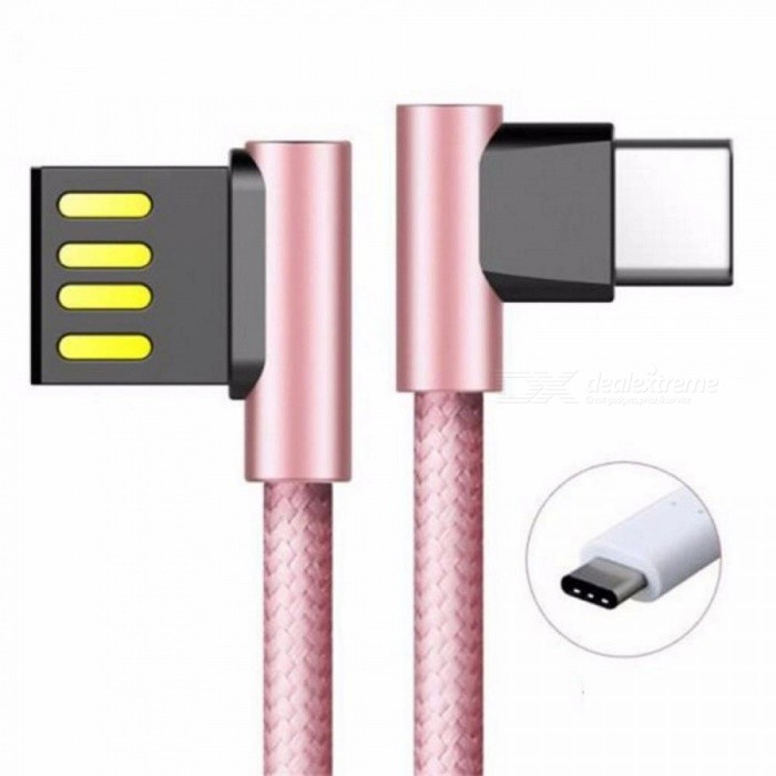 ROCK L Flexible Metal Fast USB Type C Charging Cable For Type C Cable Charger For Samsung