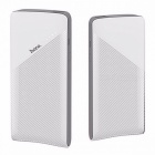 HOCO J4 Portable Power Bank, Lithium Polymer 10000mAh Mobile Phone External Battery Charger With LED Indicator Light White