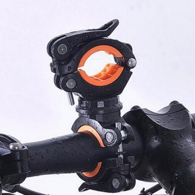 Bike 360 Degree Rotation Cycling Bicycle Flashlight Torch Mount LED Head Front Light Holder Clip Bicycle Accessories White