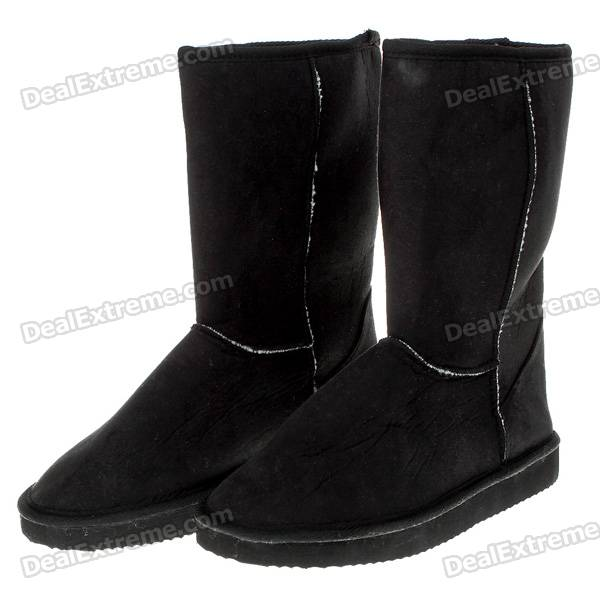 Korean-Style Stylish Snow Boots - Black (EUR 39)
