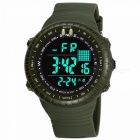 SYNOKE  Waterproof Sports Men\'s Multi-function Outdoor Electronic Watch LED Fashion Male Students Sports Big Watch Blue