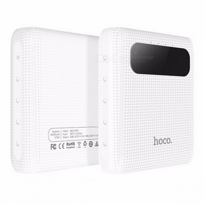 hoco b20 10000mah 18650 dual usb power bank  portable mobile phone charger external battery pack
