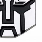 3D Logo Protector Transformers Autobot Emblem Badge Self-adhesive Metal Car Sticker Silver