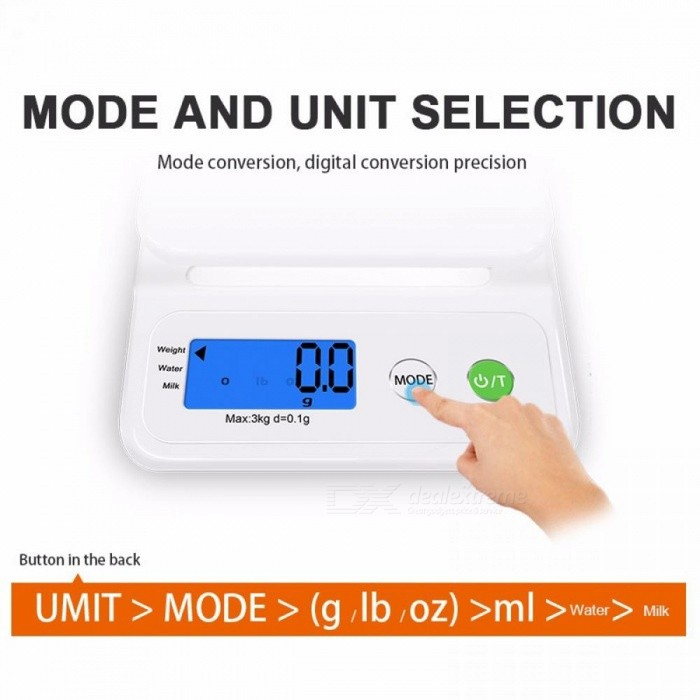 GASON C3 Kitchen Scale Home Accurate Digital Electronic Balance Plastic Measure Tools Cooking Food Grain LCD Display