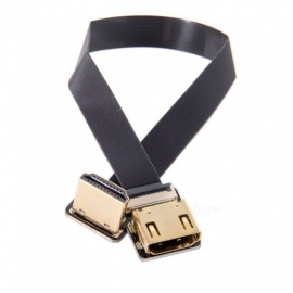 CY HD-216-DN CYFPV Down Angled 90 Degree HDMI Male to Female FPC Flat Cable with Adapters (0.5m)
