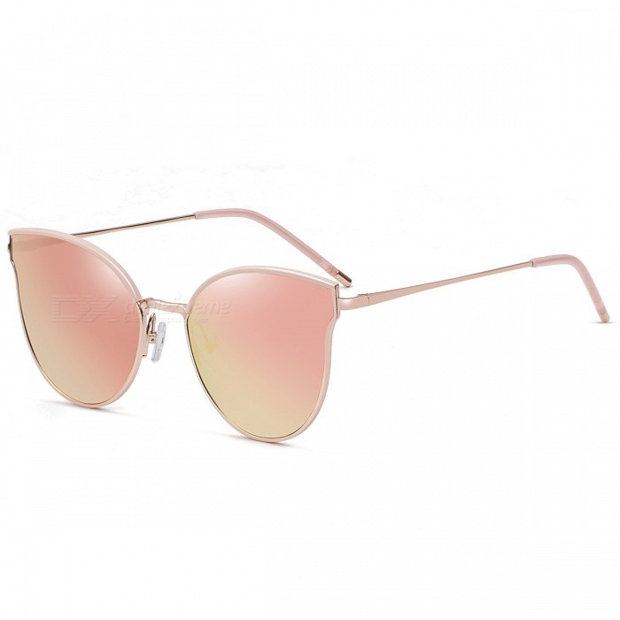cbc06d236e7 5024 Fashion Trend UV400 Protection Cat Eye Sunglasses - Rose Gold - Free  Shipping - DealExtreme