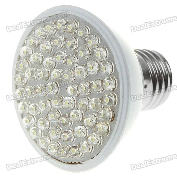 E27 3.6W 60-LED 390-Lumen White LED Energy Saving Lamp Lights Bulb (220V)