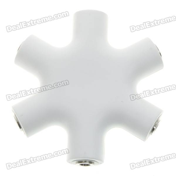 6-in-1 6-Ports Connectivity Audio Adapter/Hub - White (3.5mm Female)