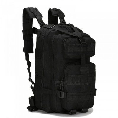 30L Outdoor Military Tactical Backpack Molle Bag Army Sport Travel Rucksack Camping Hiking Trekking Camouflage Bag Black