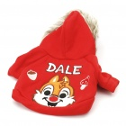 Cute Squirrel Style Dog Apparel Pet Clothes 2-Leg Holes with Hat - Color Assorted (Size L)
