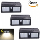 ZHAOYAO 3Pcs IP65 Waterproof Solar Charge 2835 SMD 40-LED Light Lamp for Outdoor Courtyard Lighting