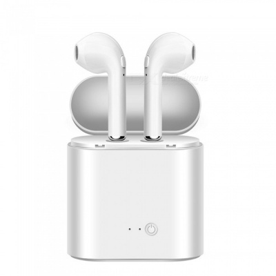 Cwxuan Wireless Dual Bluetooth Headset Twins Stereo Headphone with Charger Dock Box for IPHONE Samsung XiaoMi Huawei