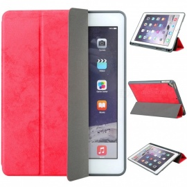 """Measy Flexible Soft TPU 6th Generation Case Slim-Fit Trifold Stand Folio Smart Cover for IPAD 9.7"""" - Red"""