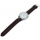 Stylish PU Leather Wristband + Metal Dial Quartz Watch with Night Lights (1x377 / Random Color)