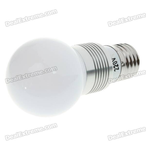 E27 1W 90-Lumen White LED Light Lamp Bulb (220V)
