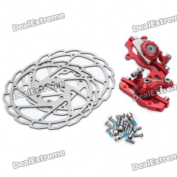 ZOOM Hollow-Out Bike Bicycle Mechanical Disc Brake Line - Red + Silver горный велосипед lamborghini one wheel folding mountain bicycle bike double shock absorber oil shimano disc bb5 disc brakes   shimano
