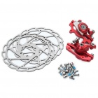 ZOOM Hollow-Out Bike Bicycle Mechanical Disc Brake Line - Red + Silver