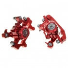 ZOOM Hollow-Out Bike Bicycle Mechanical Discs w/ Screws - Red + Silver