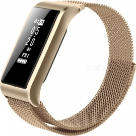B29 IP67 Waterproof Female Intelligent Bluetooth Bracelet with eart Rate, Blood Pressure Monitor, Pedometer - Gold