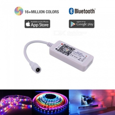 ZHAOYAO Bluetooth RGBW/RGB Controller for LED Light Strips, Android and IOS Free App Bluetooth LED Strip Light Controller