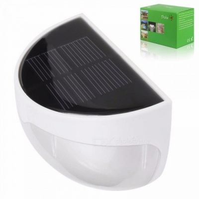 LED Garden Light Solar Panel Light Sensor Lamp Waterproof Wall Mounted Outdoor Fence Court Wall Lamp Warm Cold White Warm White/0-5W