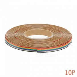 5m/lot 1.27mm Spacing Pitch10 WAY 10 Pin Flat Color Rainbow Ribbon Cable Wiring Wire For PCB DIY 10 Way 10P