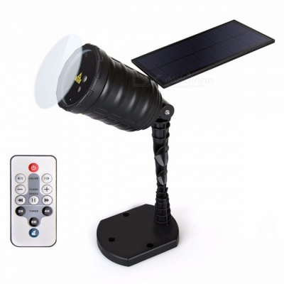 San I Solar Laser LED Light Projection Lamp Rechargeable Waterproof Holiday Garden Decoration Infrared Remote Control Changeable/0-5W/I