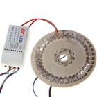 46-LED Flashing Decorative RGB Lamp Plate with Controller (220V)