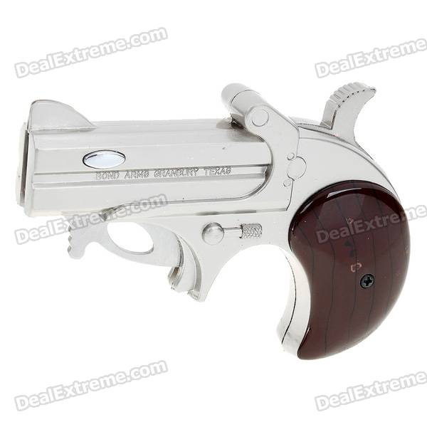 2-in-1 Pistol Shaped Butane Lighter with Retractable Knife