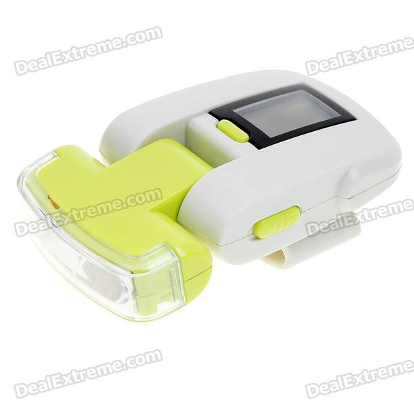 LCD Pedometer with White 3-LED Flash Light and Belt Clip (4*LR926)
