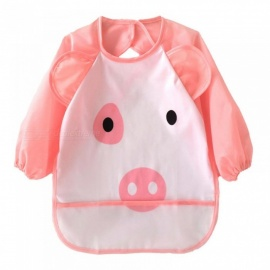 Cute Cartoon animals Baby Bibs Long Sleeve Apron Smock Soft Feeding Waterproof Colorful children Bib Burp Clothes pig