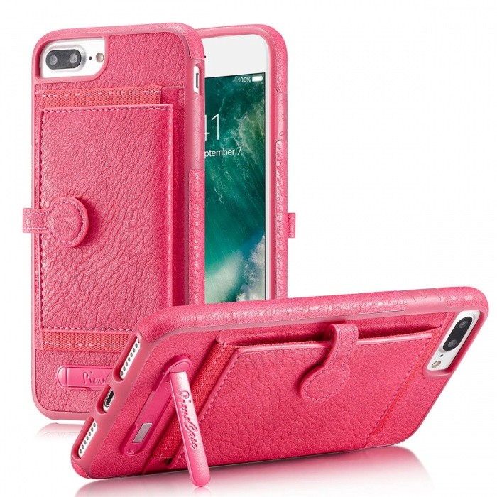 PU Leather Case with Card Slots for IPHONE 6/6S/7/8 - Pink