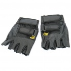 Stylish Half-Finger Leather Gloves (Size L/Pair)