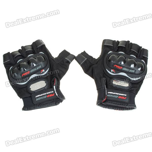 Professional Half-Finger Racing Gloves (Size L/Pair)