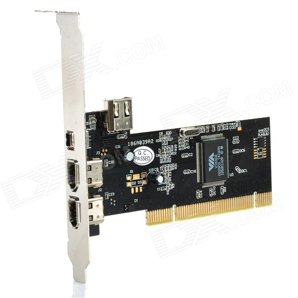 Firewire 1394 PCI Card with Software CD + Cable delonghi fh 1394 white