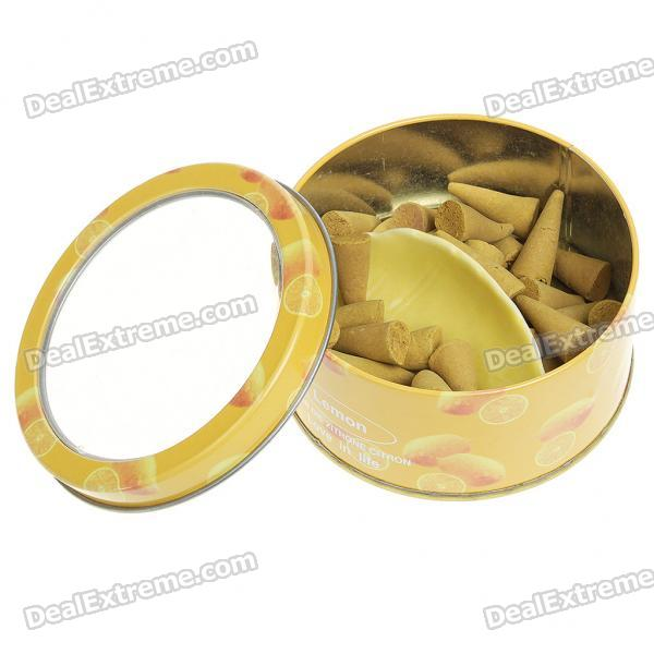 Aromatic Fragrant Natural Plant Extracts Incense Pieces with Case + Holder - Lemon Scent
