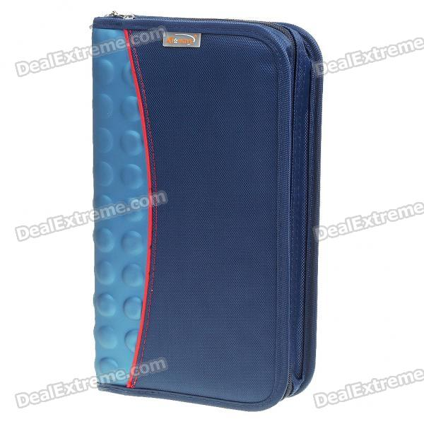 Portable 160D Nylon Cloth CD Storage Bag Box - Blue (Holds 80-CD)