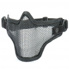Tactical Steel Mesh Protective Mask for War Game - Black
