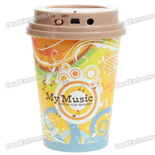 Coffee Cup Style Portable USB Rechargeable Music Speaker for MP3/Cell Phone/PC (Style Assorted) coffee cup style portable usb rechargeable music speaker for mp3 cell phone pc style assorted