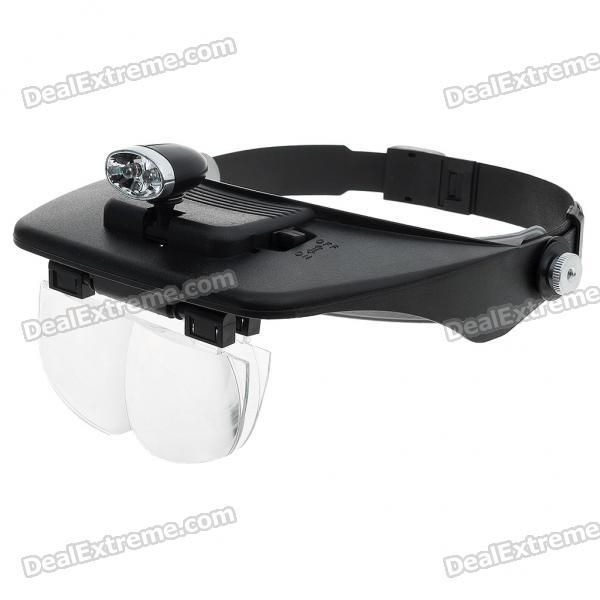 Light Head Magnifying Glasses with 4 Pieces Different Multiple Lens (2*AAA) light head magnifying glasses with 4 pieces different multiple lens 2 aaa
