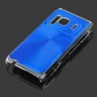 Protective Aluminum + PC Back Case with CD Grain for Nokia N8 - Blue