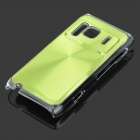Protective Aluminum + PC Back Case with CD Grain for Nokia N8 - Green