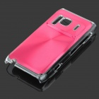 Protective Aluminum + PC Back Case with CD Grain for Nokia N8 - Red