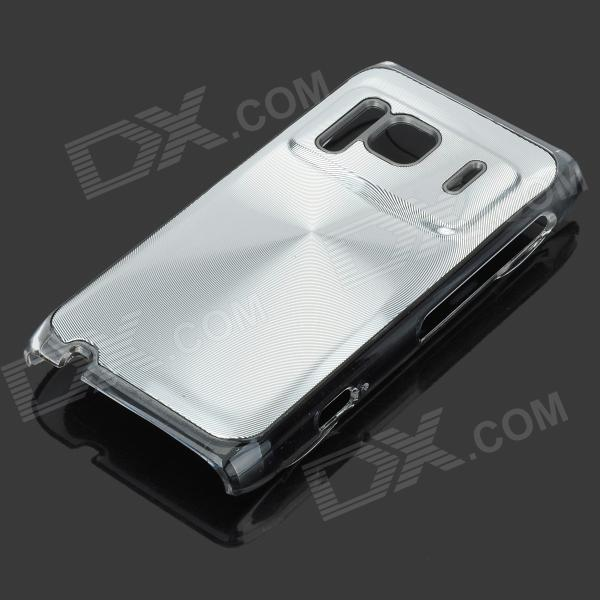 Protective Aluminum + PC Back Case with CD Grain for Nokia N8 - Silver nokia n8 в сумах