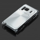 Protective Aluminum + PC Back Case with CD Grain for Nokia N8 - Silver
