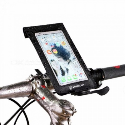 WHEEL UP Bike Waterproof Touchscreen Phone Bag Universal 360 Rotataing Quick Release Sensitive Touchable Case Box Black