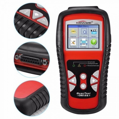 KONNWEI KW830 OBD2 / EOBD Diagnostics Auto Scanner Automotive Fault Code Reader Diagnostic Tool Car Detector Red