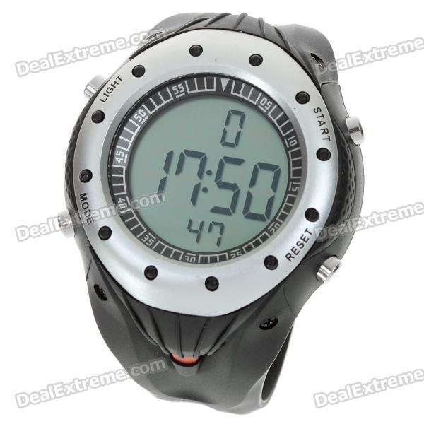 Wireless Heart Rate Monitor Sport Watch - Black